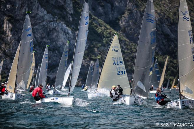 Perfect conditions launch Finn World Masters with eight races in Torbole